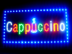 Cappuccino LED sign